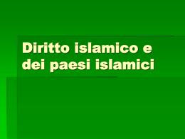 Diritto islamico e dei paesi islamici