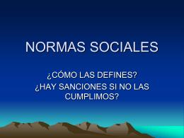 normas sociales - Liceo Nº 16 Nocturno