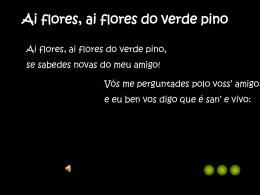 Ai flores do verde pino.pps
