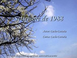 Setiembre de 1988.