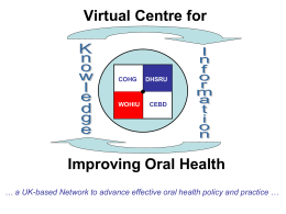 virtual Centre for Improving Oral Health