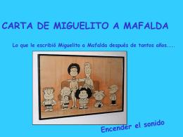 Carta Miguelito a Mafalda