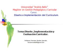 Implementación o Desarrollo del currículo