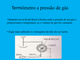 Termômetro a pressão de gás