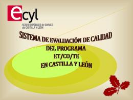 Presentación del Sistema de Evaluación y Calidad ETCOTE ECYL
