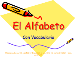 El Alfabeto - World of Teaching