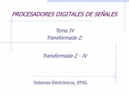 Sesión Práctica Transformada Z