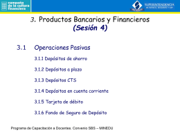3. Productos Bancarios y Financieros