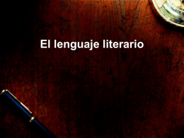 El lenguaje literario