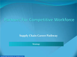 Supply Chain Career Pathway - Partners for a Competitive Workforce