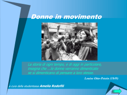 Donne in movimento