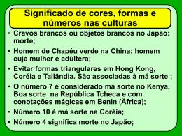 Significado de cores, formas e números nas culturas