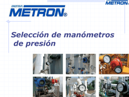 CURSO Selección de manómetros.pps