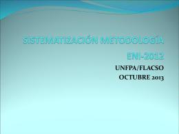 SISTEMATIZACIÓN METODOLOGÍA ENI-2012