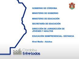Presentación de PowerPoint - Gobierno de la Provincia de Córdoba