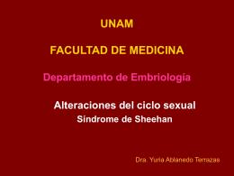 Universidad Nacional Auónoma de México Departamento