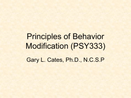 Principles of Behavior Modification (PSY333)