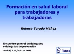 Formación en salud laboral para trabajadores y trabajadoras