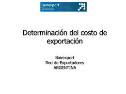 secuencia Determinación del Costo de Exportación