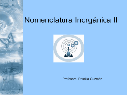 Nom.InorganicaII