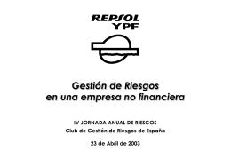 3.1 Gestión de Riesgos, REPSOL YPF JM Martin Prieto