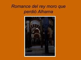 Romance del rey moro que perdió Alhama