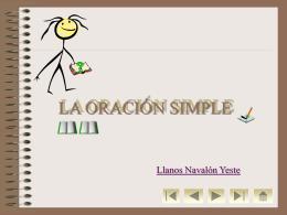 Oracion - Sector Lenguaje y Comunicación