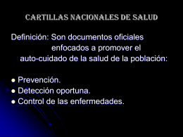 cartillas de salud