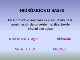 HIDRÓXIDOS O BASES