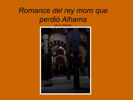 Romance del rey moro que perdió Alhama por C.Jimenez