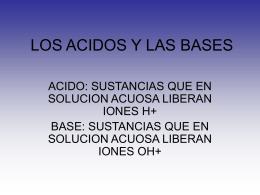 los acidos y las bases