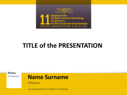 Official template for presentation