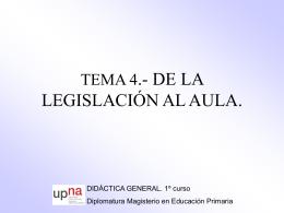 Sin título de diapositiva - Didáctica General (1º Diplomatura)