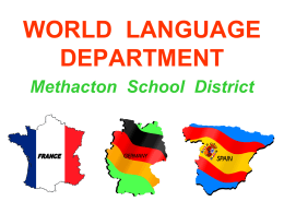 world language department - Methacton School District