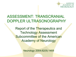 assessment: transcranial doppler ultrasonography