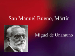 San Manuel Bueno, martir PPT