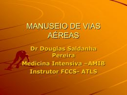 MANUSEIO DE VIAS AÉREAS