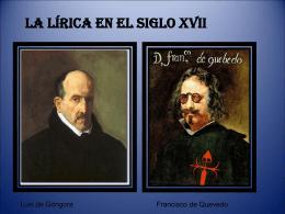 La lírica en el siglo XVII-1