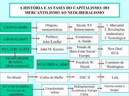 a história e as fases do capitalismo: do