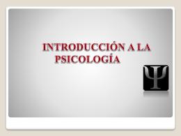introduccion a la psicolgia – sek2