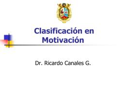 Clasificación en Motivación