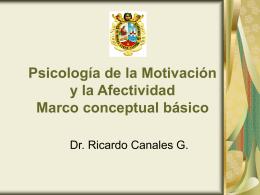 Psicología de la Motivación y la Afectividad Marco conceptual básico
