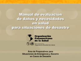 EDAN - Centro de Información Sobre Desastres Y Salud