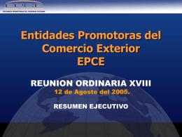 Entidades Promotoras del Comercio Exterior EPCE