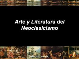 Arte y Literatura del Neoclasicismo El Neoclasicismo
