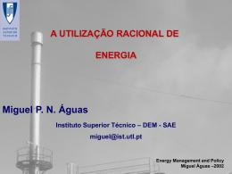 Utilização racional de Energia