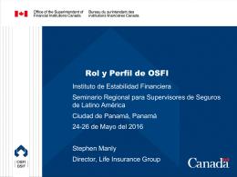OSFI regula y supervisa