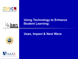 Using Technology to Enhance Student Learning: Uses, Impact