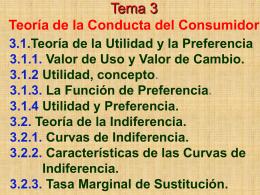 Tema 3 Teoría de la Conducta del Consumidor