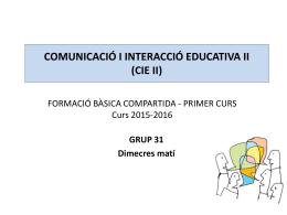 comunicació i interacció educativa